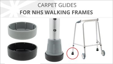 CARPET GLIDES FOR NHS WALKING FRAMES